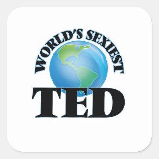 Ted le plus sexy du monde autocollant carré