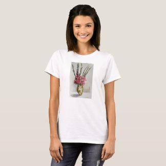 Tee - shirt avec l'aquarelle de gladiolas t-shirt
