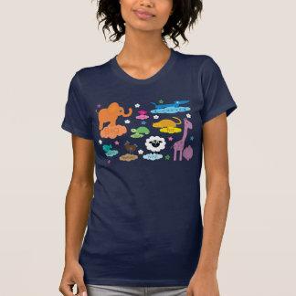 Tee - shirt coloré mignon de marine d animaux de b t-shirts