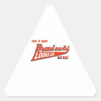 Tee - shirt de faire-part du bébé des hommes sticker triangulaire