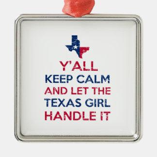 Tee - shirt de fille du Texas Ornement Carré Argenté