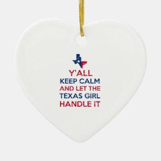 Tee - shirt de fille du Texas Ornement Cœur En Céramique