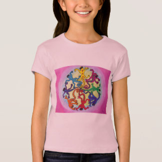 Tee - shirt de filles - cercle des lézards t-shirt