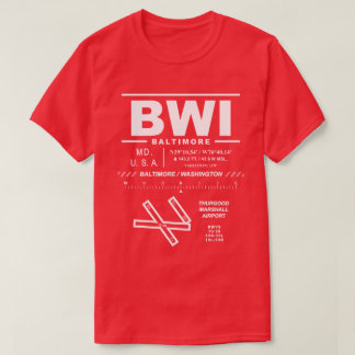 Tee - shirt de l'aéroport international BWI de T-shirt