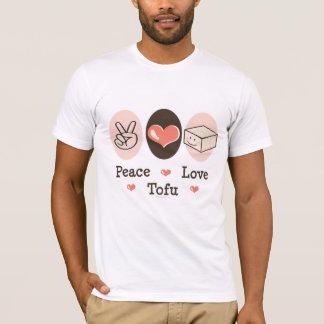 Tee - shirt de tofu d'amour de paix t-shirt