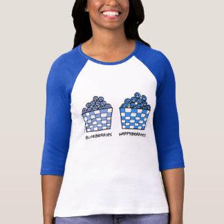 Tee - shirt drôle mignon d'amants de myrtilles de t-shirt
