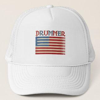 Tee - shirt et cadeaux de batteur de drapeau des casquette