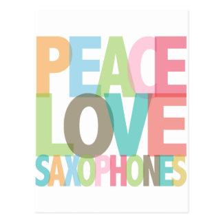 Tee - shirt et cadeaux de saxophones d'amour de carte postale