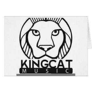 Tee - shirt et substance du Roi Cat Music Logo Carte De Vœux