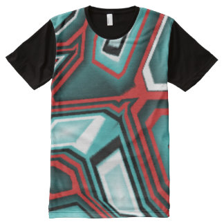 Tee-shirt futuriste abstrait pour des Skater T-shirt Tout Imprimé