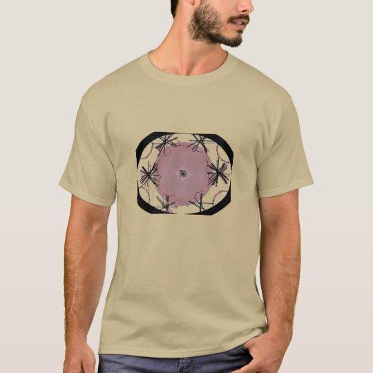 Tee - shirt ovale graphique d'art t-shirt
