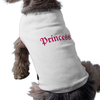 Tee - shirt rose de princesse Customizable Dog T-shirt Pour Chien