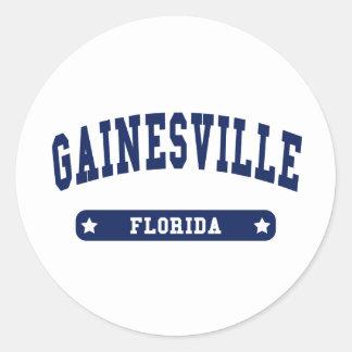 Tee - shirts de style d université de Gainesville Adhésif Rond