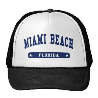 Tee - shirts de style d'université de Miami Beach  Casquette Trucker