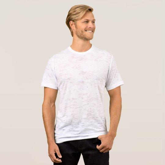 T-shirt homme délavé et ajusté, Blanc vieilli