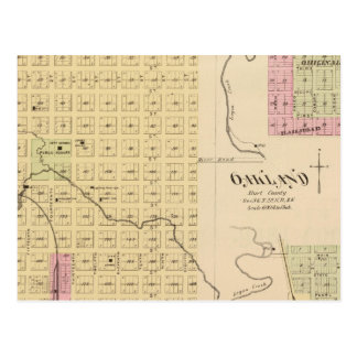Tekamah, Oakland, et Lyon, Nébraska Cartes Postales