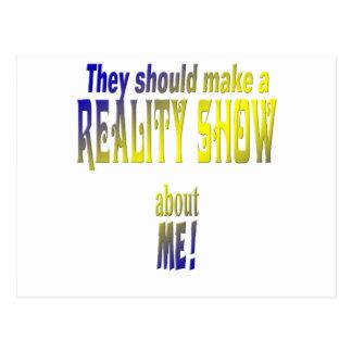 Télé réalité cartes postales