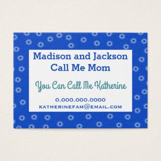 Télécarte d'affaires de maman - votre couleur cartes de visite