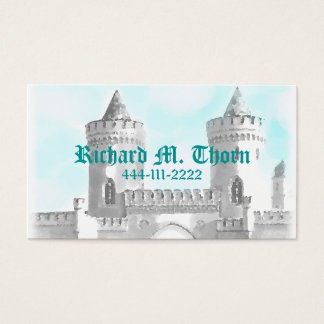 Télécarte de château cartes de visite