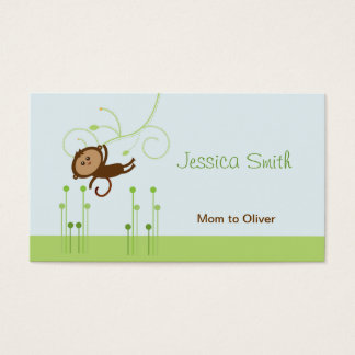 Télécarte de maman de singe cartes de visite