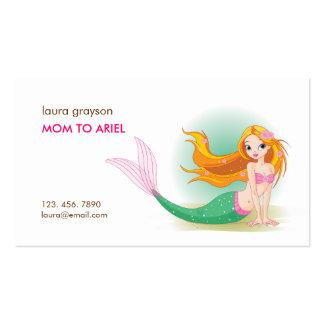 Télécarte de maman de sirène carte de visite standard