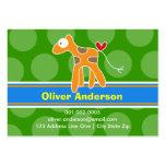 Télécarte de profil de photo d'enfant de girafe de cartes de visite personnelles