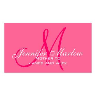 Télécarte élégante de maman de roses indien de carte de visite standard