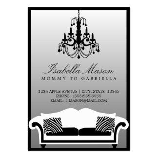 Télécarte élégante de maman de zèbre carte de visite grand format
