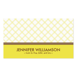 Télécarte jaune ensoleillée à la mode de maman de carte de visite standard