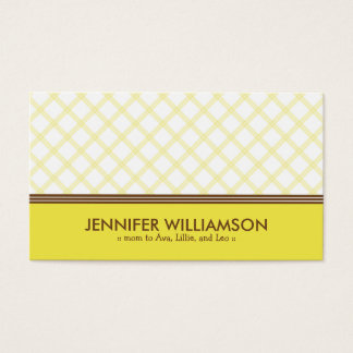 Télécarte jaune ensoleillée à la mode de maman de cartes de visite