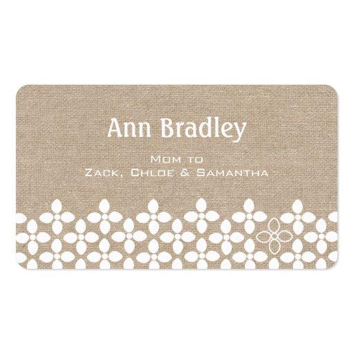 Télécarte moderne de maman de fleur blanche cartes de visite professionnelles