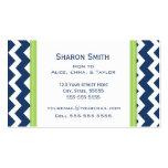 Télécartes bleues de maman de Chevron de chaux rét Cartes De Visite Personnelles