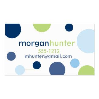 Télécartes bleues de point (#BUS025) Carte De Visite Standard