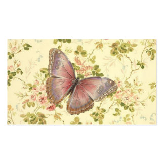 Télécartes chics minables de papillon et de vignes cartes de visite personnelles