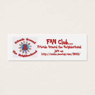 Télécartes de club de FAN - customisées Mini Carte De Visite