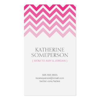 Télécartes de maman de Chevron Ombre de roses Carte De Visite Standard