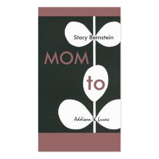 Télécartes modernes de maman de fleur cartes de visite personnelles