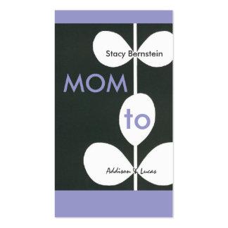 Télécartes modernes de maman de fleur carte de visite standard