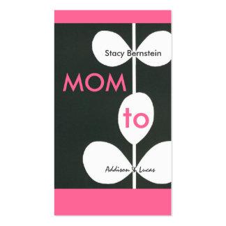 Télécartes modernes de maman de fleur modèle de carte de visite