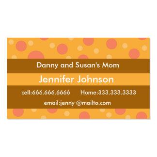 Télécartes modernes de maman de rétros points carte de visite standard