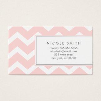 Télécartes roses de motif de Chevron de zigzag Cartes De Visite