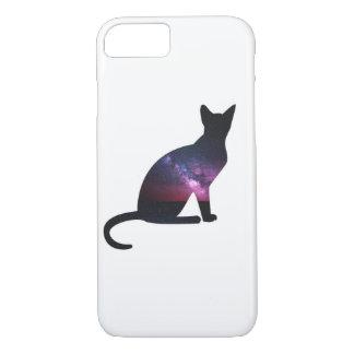 Téléphone de chat de galaxie coque iPhone 7