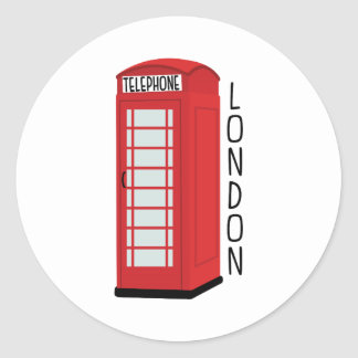Téléphone de Londres Sticker Rond