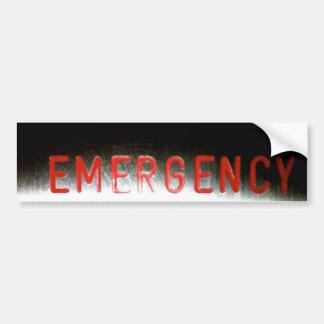 Téléphone d'urgence - adhésif pour pare-chocs autocollant de voiture