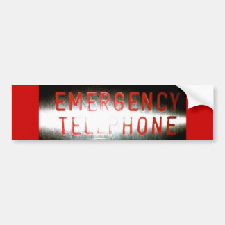 Téléphone d'urgence - adhésif pour pare-chocs autocollant pour voiture