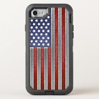 téléphone portable de drapeau américain d'iPhone Coque OtterBox Defender iPhone 8/7