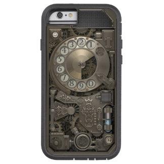 Téléphone rotatoire en métal de Steampunk. Cas Coque Tough Xtreme iPhone 6
