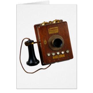 Téléphone vintage, carte de voeux