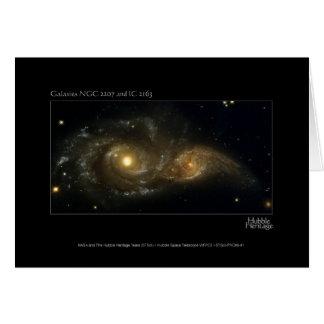 Télescope se heurtant presque de Hubble de Carte De Vœux
