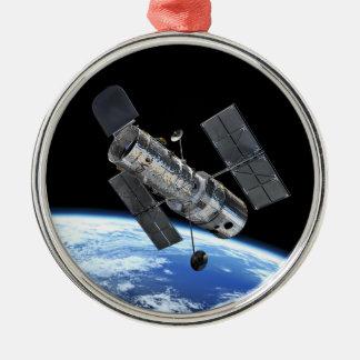 Télescope spatial de Hubble en photo de la NASA Ornement Rond Argenté